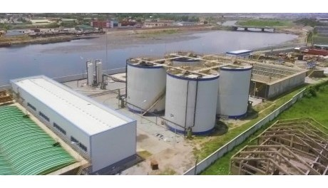 Human waste plant in Accra, Ghana